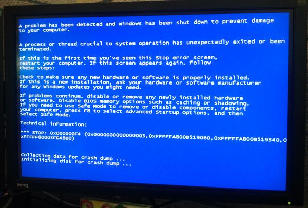 BSOD — расшифровываем синий экран